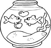 immagine acquari pesciolini da colorare