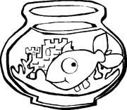 acquari pesciolini immagine da colorare n. 8182
