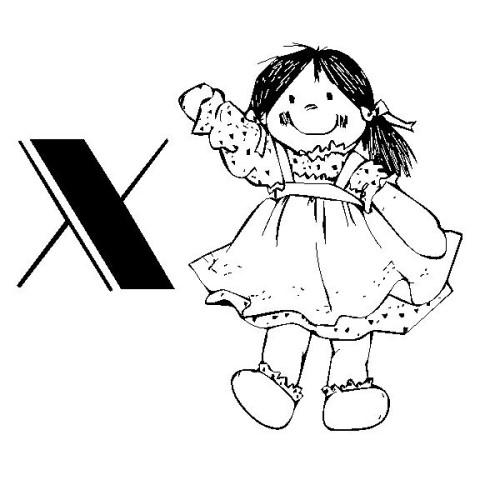 Alfabeto Bambolina Immagine Da Colorare N 22619 Cartoni Da Colorare