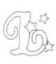 alfabeto natale immagine da colorare n. 10742