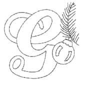 alfabeto natale immagine da colorare n. 13053