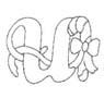 alfabeto natale immagine da colorare n. 37626