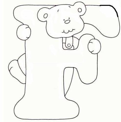 immagine alfabeto orsetto da colorare