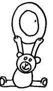 immagine alfabeto orso da colorare