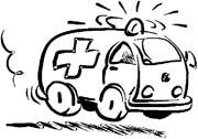 immagine ambulanze da colorare
