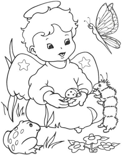 Immagini da colorare angeli natale cartoni da colorare for Figure di angeli da stampare