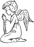 angeli natale immagine da colorare n. 24721