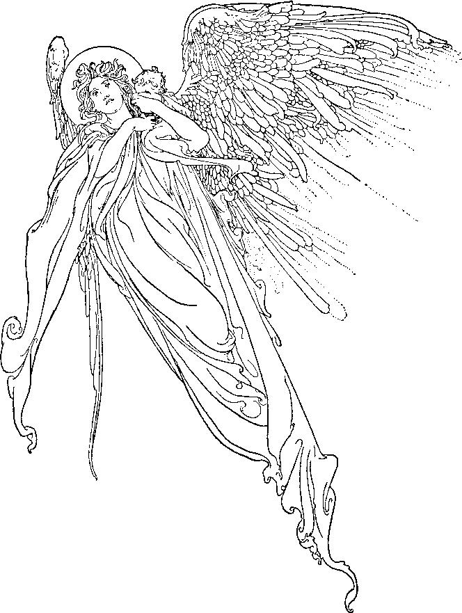 Angeli Immagine Da Colorare N 22913 Cartoni Da Colorare