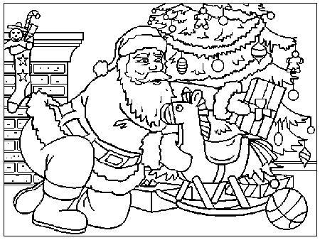Babbo Natale Immagine Da Colorare N 11366 Cartoni Da Colorare