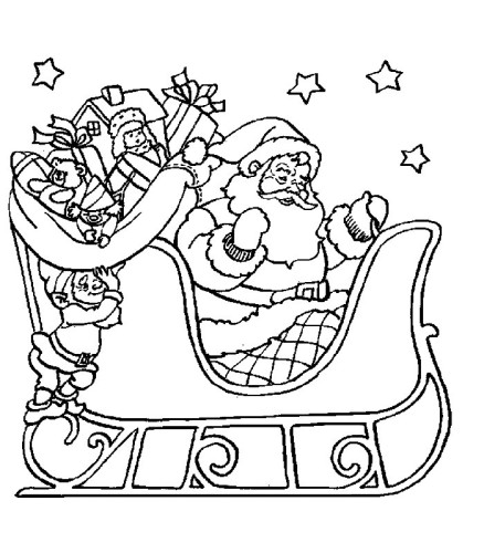 Babbo Natale Immagine Da Colorare N. 17691