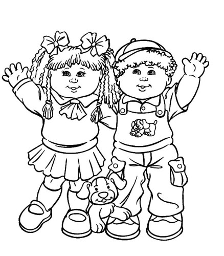 Bamboline Immagine Da Colorare N 3903 Cartoni Da Colorare