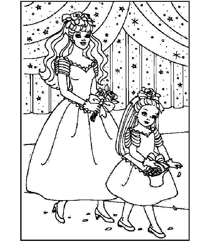 Barbie Sposa Immagine Da Colorare N 25842 Cartoni Da Colorare
