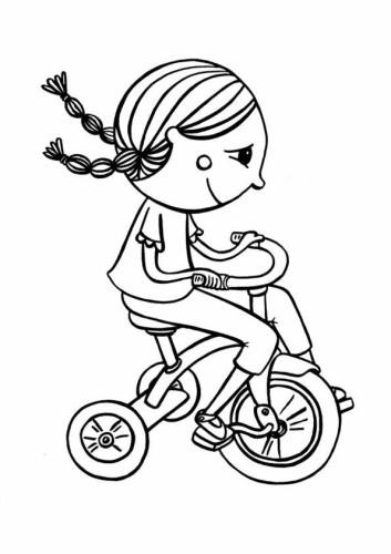 Immagini da colorare biciclette cartoni da colorare for Bicicletta immagini da colorare