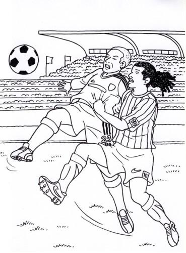 Calcio immagine da colorare n 19559 cartoni da colorare for Disegni sport da colorare