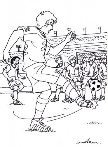 Disegni Da Colorare Partita Di Calcio.Calcio Immagine Da Colorare N 23905 Cartoni Da Colorare
