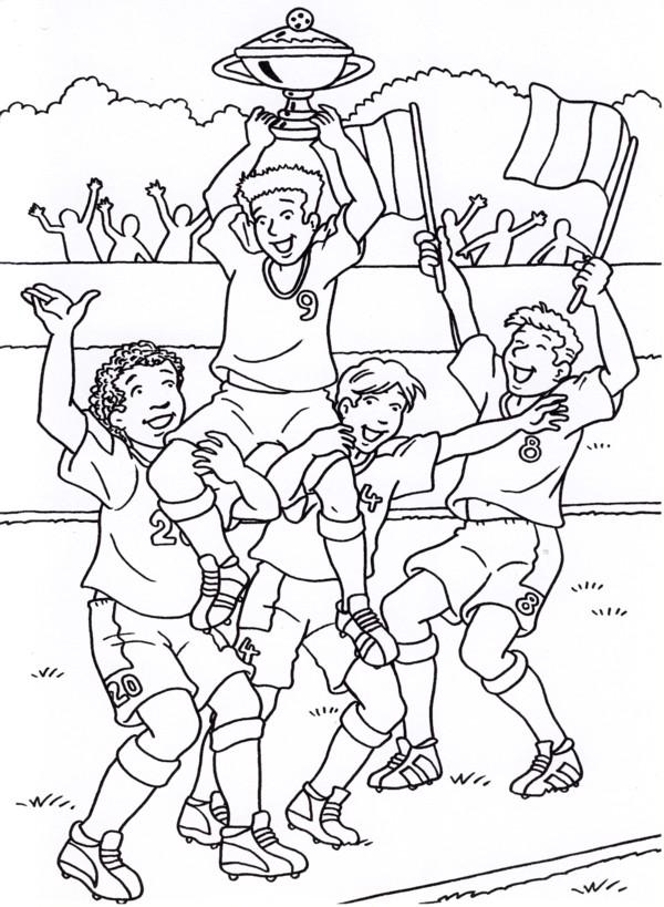 Disegni Da Colorare Partita Di Calcio.Calcio Immagine Da Colorare N 29857 Cartoni Da Colorare