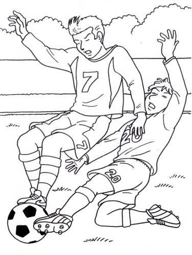 Disegni Da Colorare Partita Di Calcio.Calcio Immagine Da Colorare N 9618 Cartoni Da Colorare