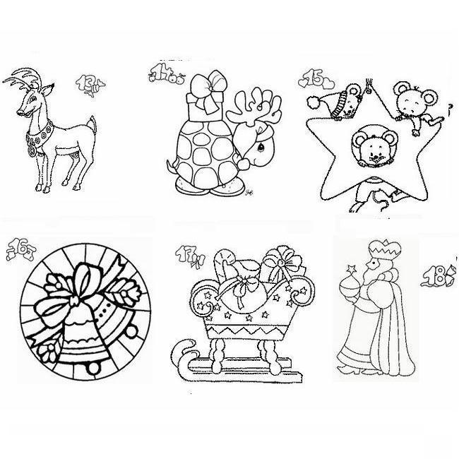 Calendario natale immagine da colorare n 13929 cartoni - Immagini a colori di natale gratis ...