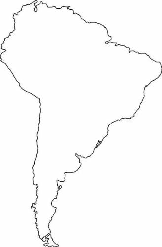Cartina Geografica Inghilterra Da Colorare.Cartina America Latina Da Colorare