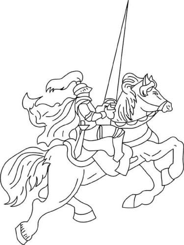 Cavalieri Immagine Da Colorare N 29934 Cartoni Da Colorare