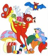 colora fiaba bambi immagine da colorare n. 22649