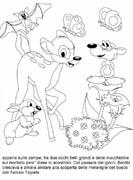colora fiaba bambi immagine da colorare n. 5210