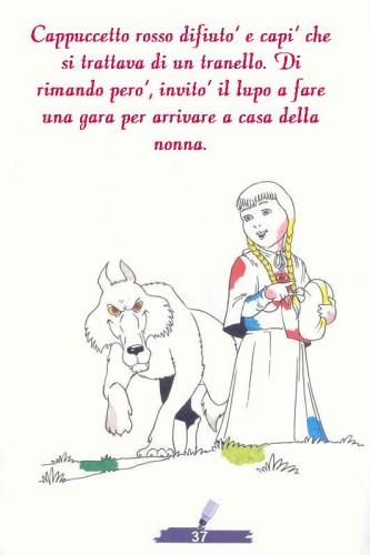 Colora Fiaba Cappuccetto Rosso Immagine Da Colorare N 18126