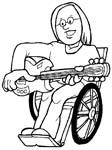 immagine disabili da colorare