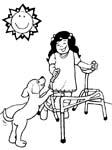 disabili immagine da colorare n. 5516