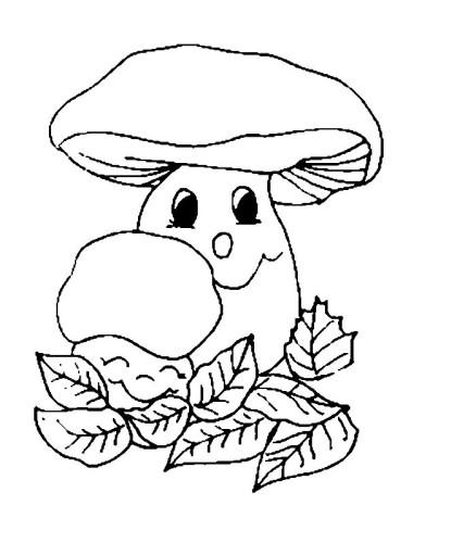 Funghi Immagine Da Colorare N 10353 Cartoni Da Colorare