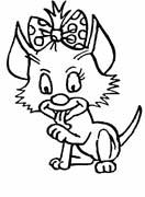 immagine gatti da colorare