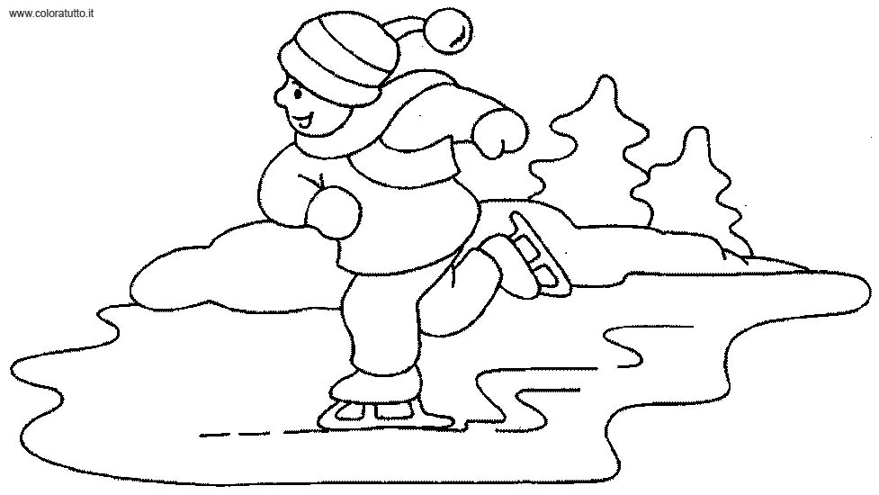 Inverno immagine da colorare n 22213 cartoni da colorare for Paesaggio invernale da colorare