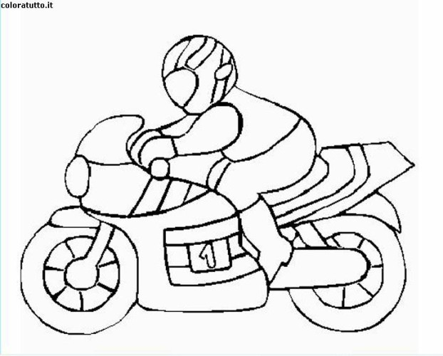 Immagini da colorare moto pagina di cartoni