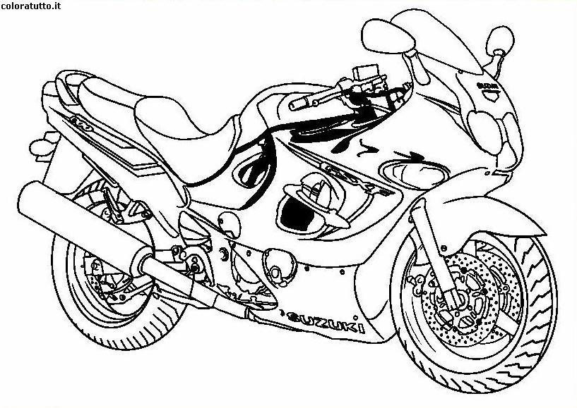 Moto immagine da colorare n 24183 cartoni da colorare for Bicicletta immagini da colorare