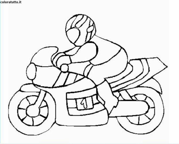 Disegni Da Colorare Di Cartoni Animati: Immagini Da Colorare Moto