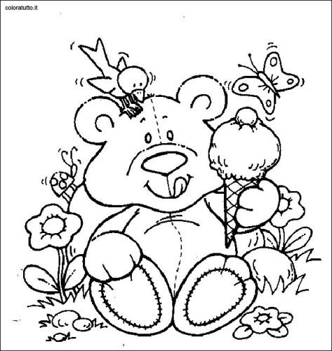 Immagini da colorare orsi cartoni da colorare - Orsi polari pagine da colorare ...