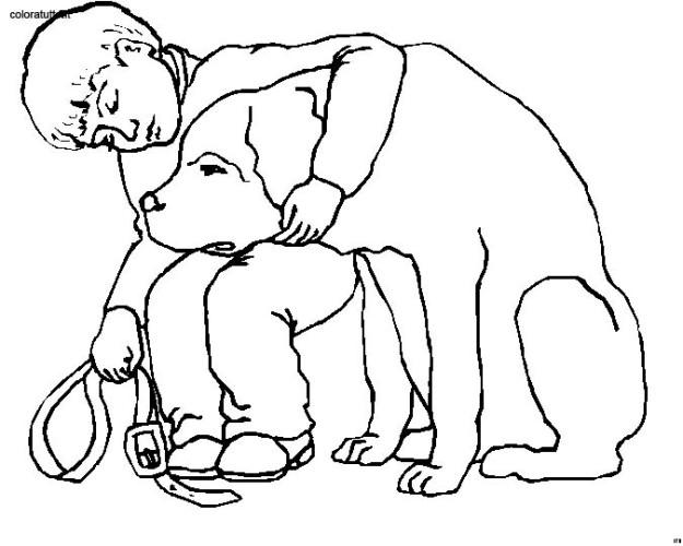 Disegni Persone Da Colorare.Persone Con Animali Immagine Da Colorare N 24832 Cartoni Da