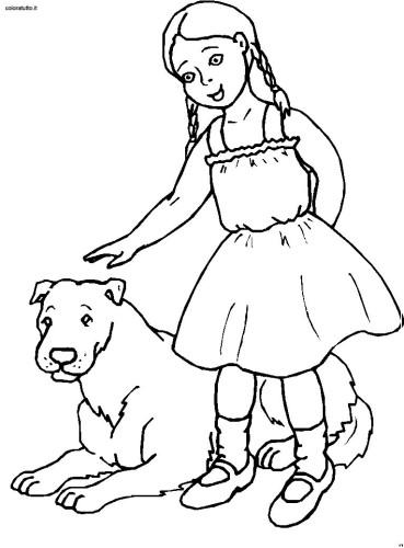 Disegni Persone Da Colorare.Persone Con Animali Immagine Da Colorare N 9727 Cartoni Da Colorare