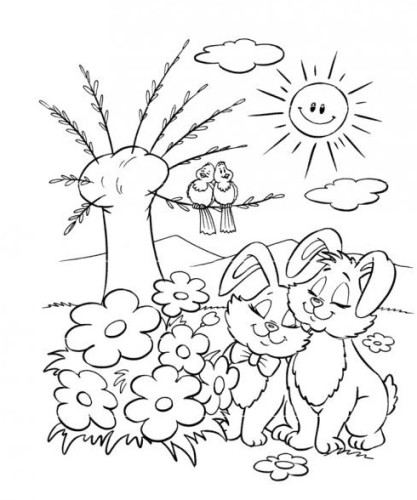 Primavera immagine da colorare n 24012 cartoni da colorare for Immagini sulla primavera da stampare e colorare