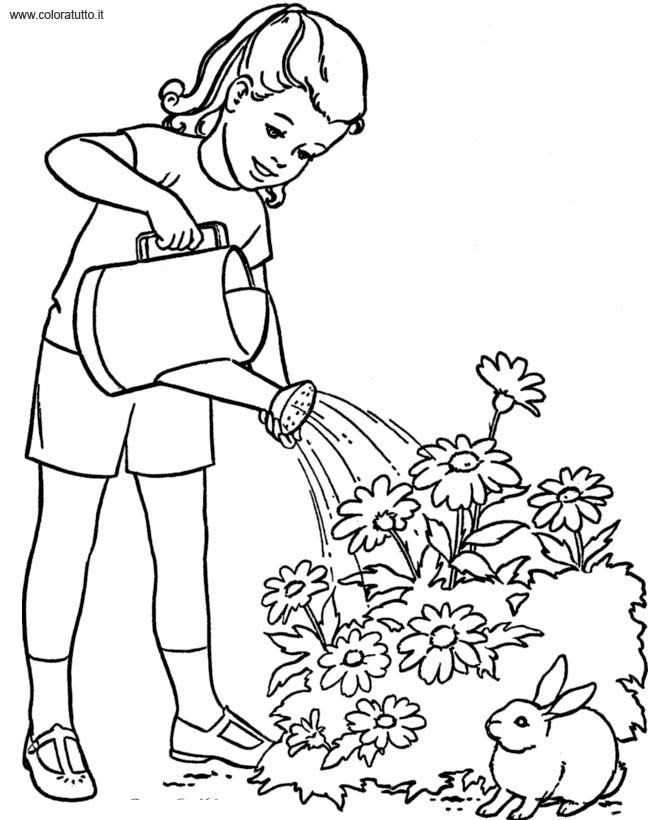 primavera immagine da colorare n. 956