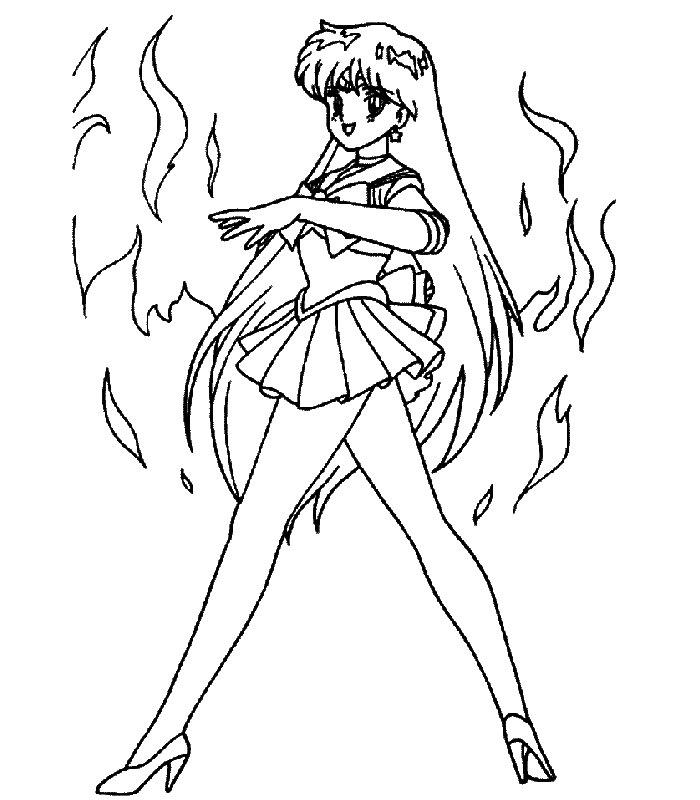 Sailor Moon Immagine Da Colorare N 4345 Cartoni Da Colorare