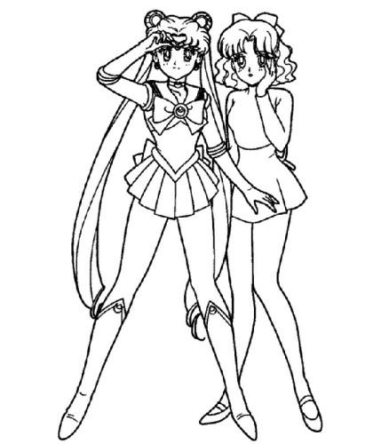 Sailor Moon Immagine Da Colorare N 4407 Cartoni Da Colorare