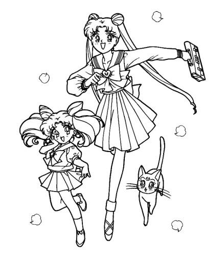 Sailor Moon Immagine Da Colorare N 7762 Cartoni Da Colorare