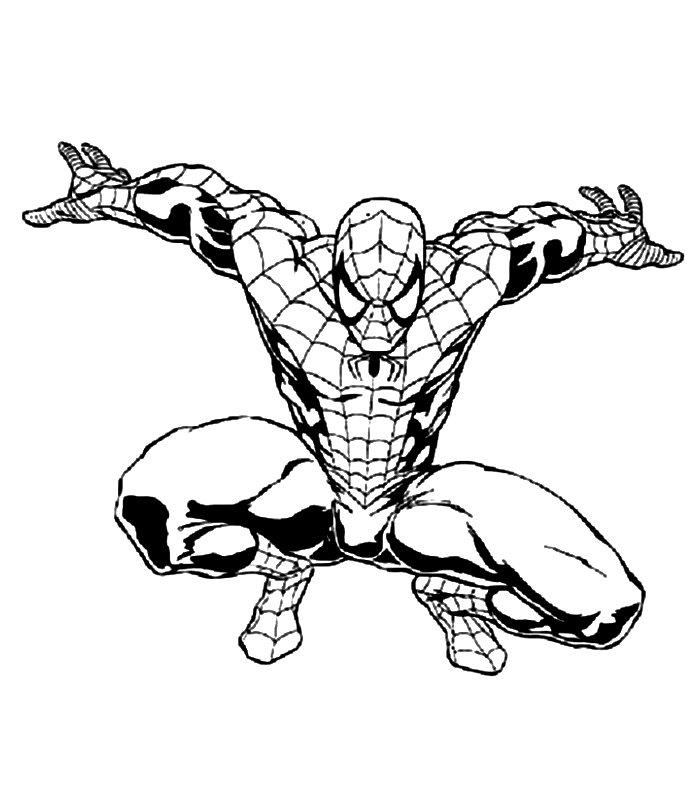 spiderman immagine da colorare n 8768 cartoni da colorare