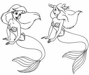 Ariel+disney+black+and+white_142