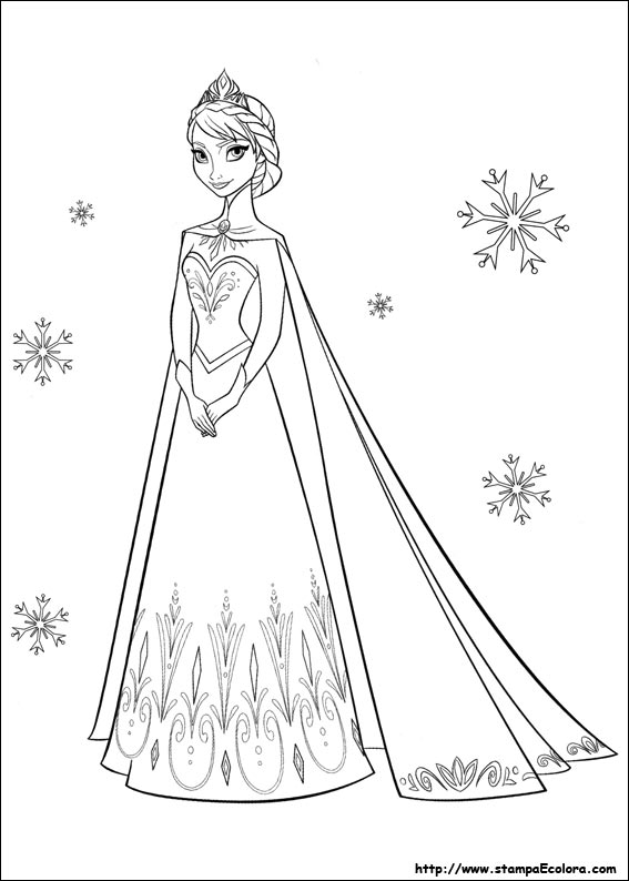 Frozen Cartoni Da Colorare