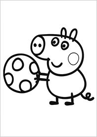 immagine da colorare peppa pig046