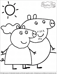 immagine da colorare peppa pig057