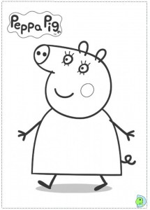 immagine da colorare peppa pig058