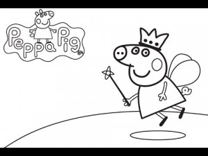 immagine da colorare peppa pig076